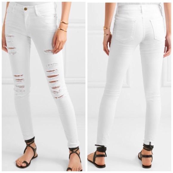 e3ba3a2dacbf6 Frame Denim Jeans | Frame Le Skinny De Jeanne White | Poshmark